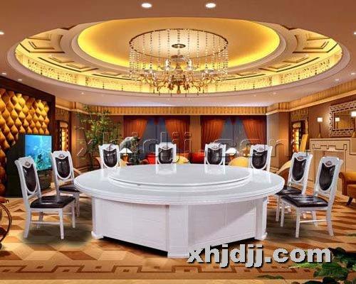 香河酒店家具提供生产豪华电动餐桌厂家